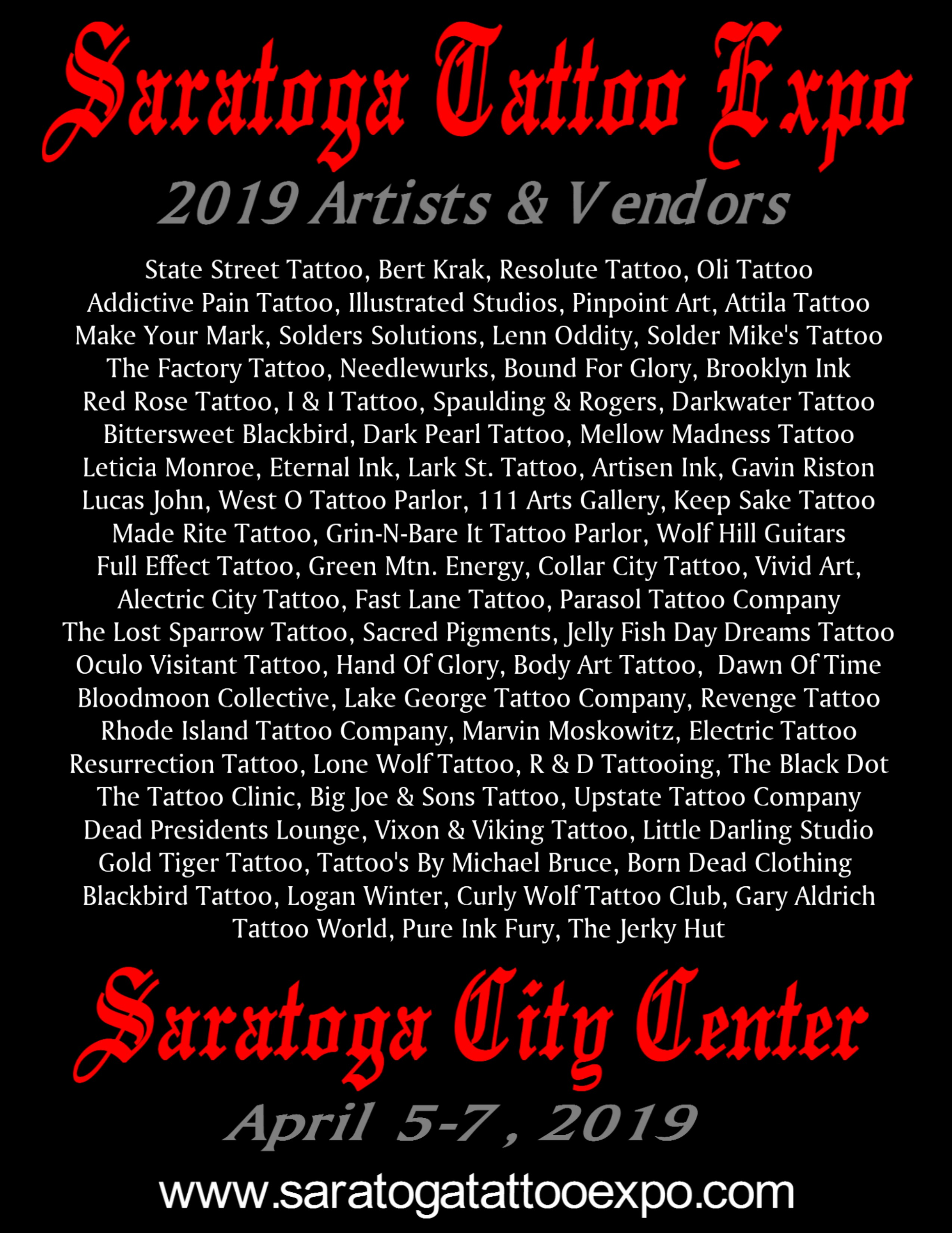 Saratoga Tattoo Expo Poster