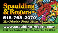Saratoga Tattoo Expo brought to you by Spaulding & Rogers Mfg.